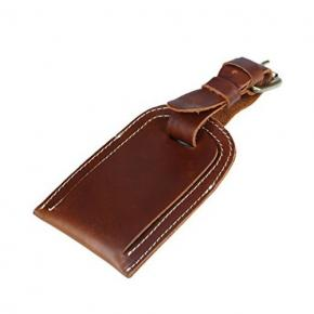 Genuine Leather Luggage Bag Tags