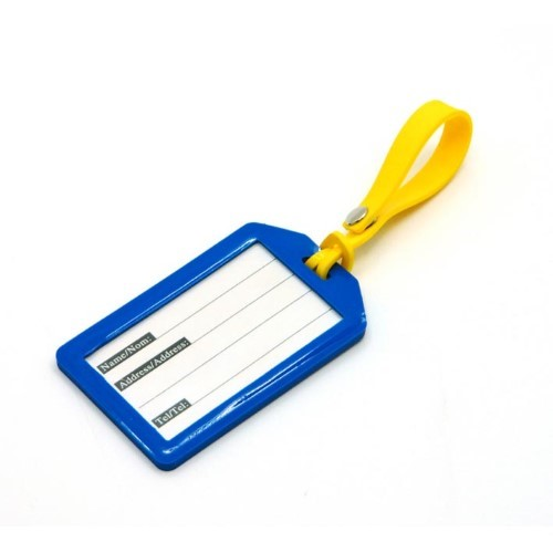 PVC Luggage Tag with Adjustable Strap