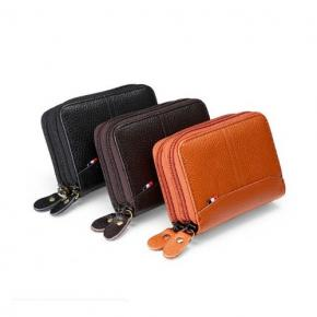 Double Zipper Card Cases Holder