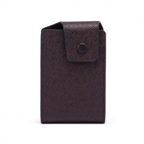 PU Leather Slim Pocket Card Holder with Snap Shut