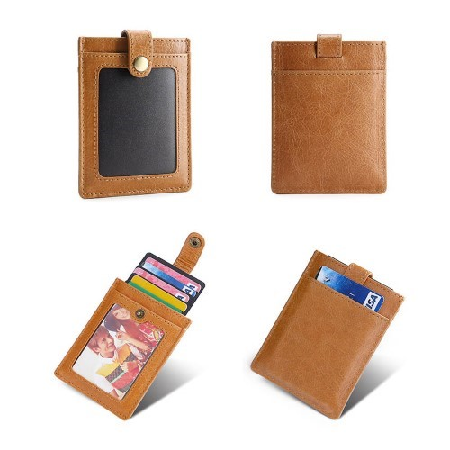 Slim Leather Pocket Wallet Card Holder